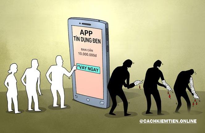 cẩn thận vay tiền online tín dụng đen
