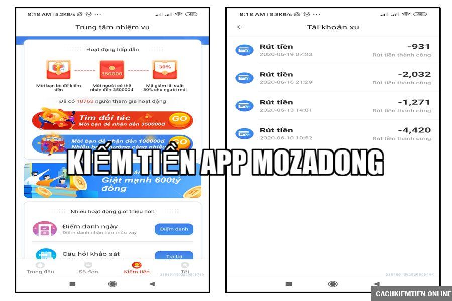 app vay tiền online mozadong