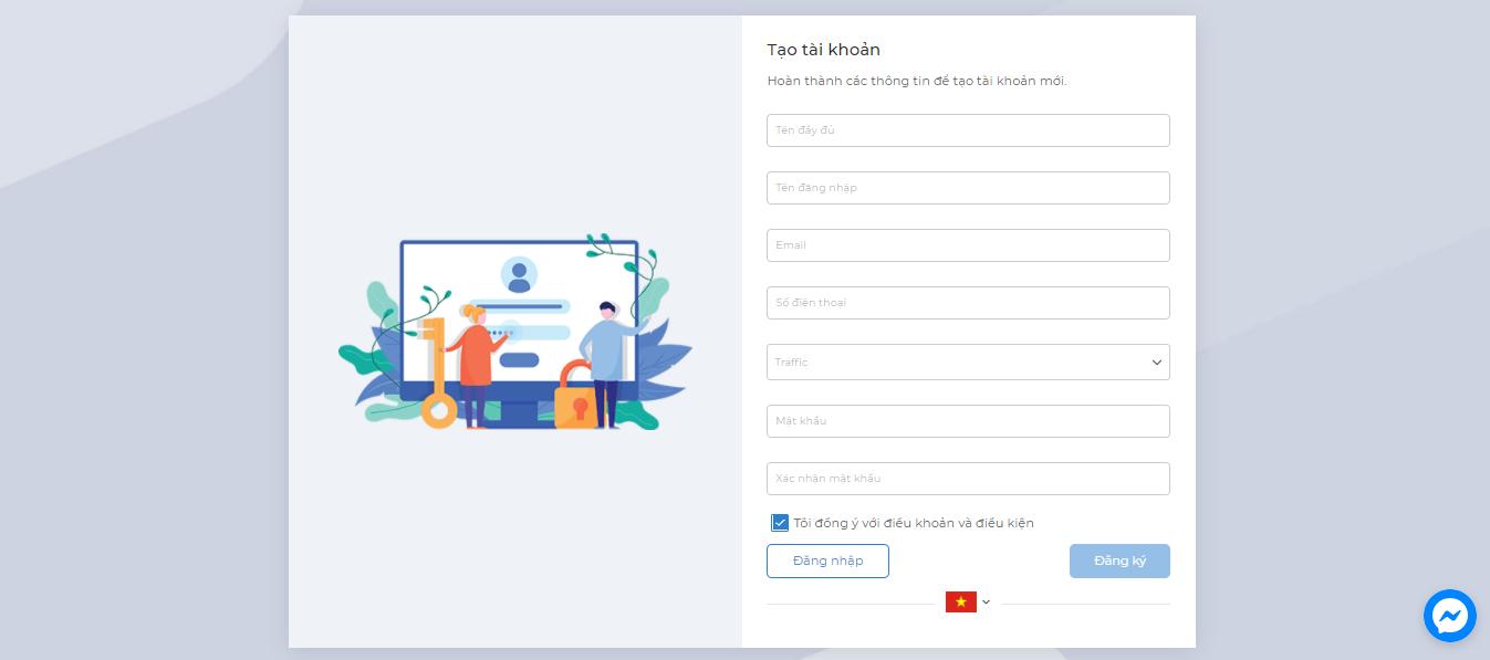 Điền thông tin đăng ký tham gia MasOffer Fintech