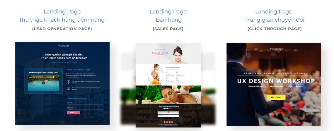 3 loại Landing Page phổ biến dựa theo mục tiêu chuyển đổi